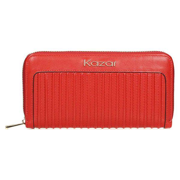 557e880f0113b Skórzany portfel w kolorze czerwonym - (S)20 x (W)10 cm - Czerwone ...