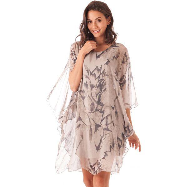 02c25301a2 Sukienka w kolorze jasnobrązowym - Brązowe sukienki marki Silk ...