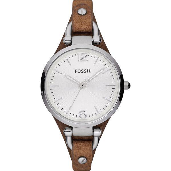 Zegarek Fossil Georgia Es3060 Dark Brownsilversteel Brązowe
