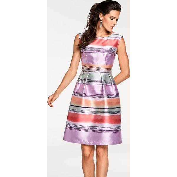 c4800eb3e3 Sukienka w kolorze lawendowym ze wzorem - Fioletowe sukienki marki ...