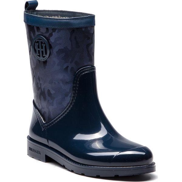 große Auswahl 60% günstig aliexpress Kalosze TOMMY HILFIGER - Shiny Camo Rain Boot FW0FW03318 Tommy Navy 406