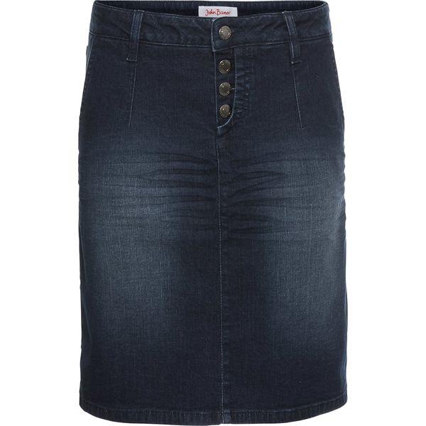327992ac Miękka spódnica dżinsowa ze stretchem bonprix ciemnoniebieski