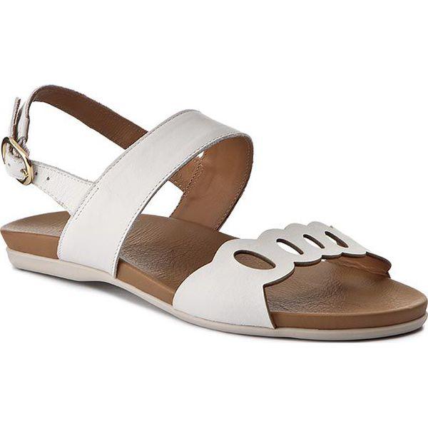 c6aae4a1e62bb Sandały KAZAR - Zoe 28618-01-01 Biały - Białe sandały marki Kazar, w ...