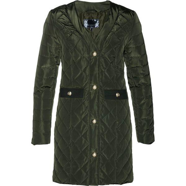 Długa kurtka pikowana bonprix nocny oliwkowy
