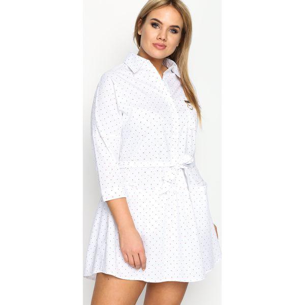 4019f7ad15 Biała Sukienka Microcosm - Białe sukienki marki Born2be