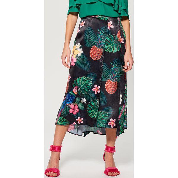 Inne rodzaje Długa spódnica w kwiaty gold label - Wielobarwn - Szare spódnice WS02