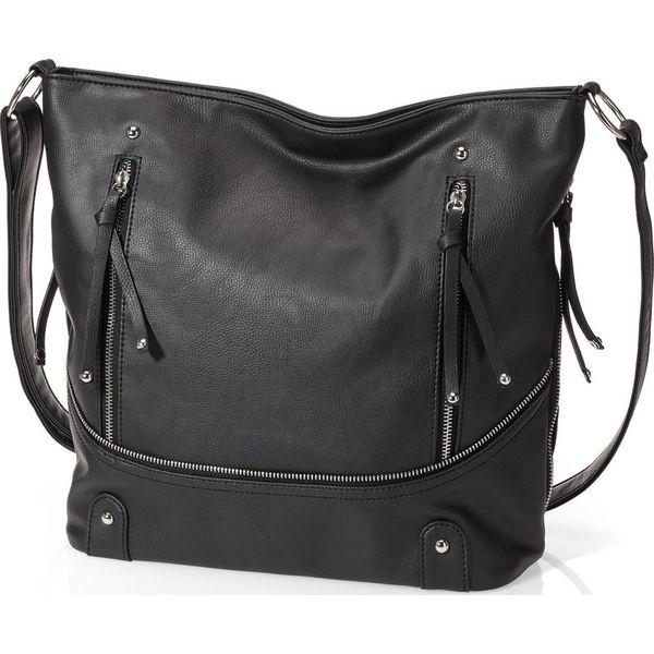 0e16060fdd92f Torba shopper z zamkiem bonprix czarny - Czarne shopper bag marki ...