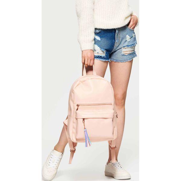 d06b5e8ed5838 Plecak z eko skóry z kontrastową podszewką - Różowy - Moda w Women s ...