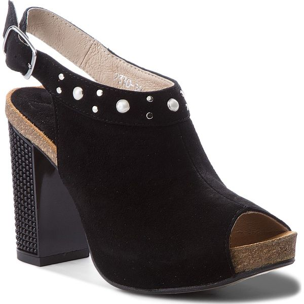 2d9a45577a519 Sandały LIBERO - 9330 135 - Czarne sandały marki Libero, ze skóry ...