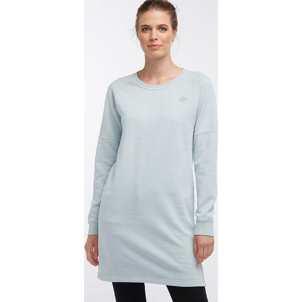 d178e60a94 Sukienka dresowa w kolorze turkusowym - Niebieskie sukienki ...
