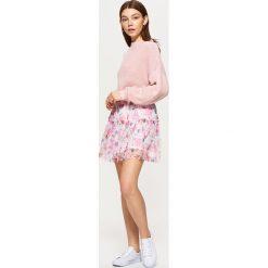 69a3354b17ed62 ... Spódnice: Dwuwarstwowa spódnica w kwiaty - Kremowy