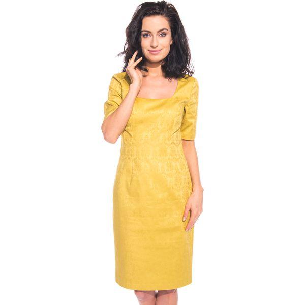 e72155ea45 Żółta sukienka we wzory BIALCON - Sukienki marki BIALCON. W ...
