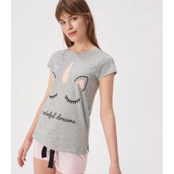 d79534852aa5a7 Dwuczęściowa piżama z jednorożcem - Jasny szary. Szare piżamy Sinsay, l,  bez wzorów