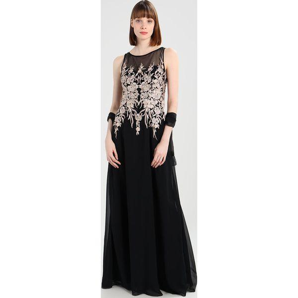 124389c55f Luxuar Fashion Suknia balowa schwarz beige - Czarne sukienki marki ...