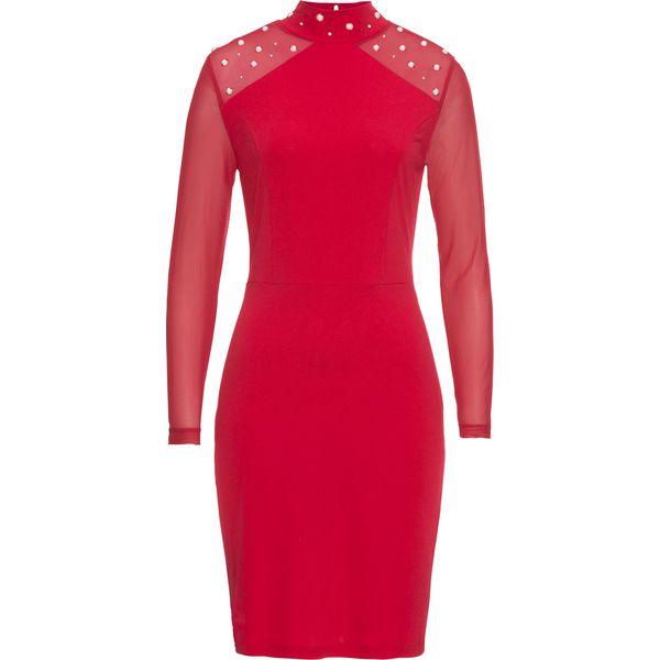 8c10349f86 Sukienka z perełkami bonprix czerwony - Czerwone sukienki marki ...