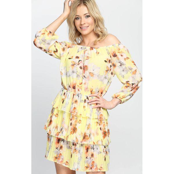 1c2a105c6b Żółta Sukienka Frezja - Żółte sukienki marki Born2be