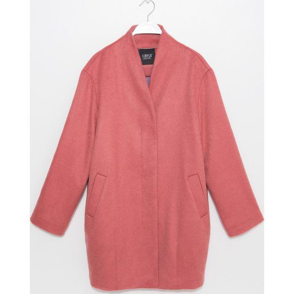 649633f669 Simple - Płaszcz - Różowe płaszcze marki Simple
