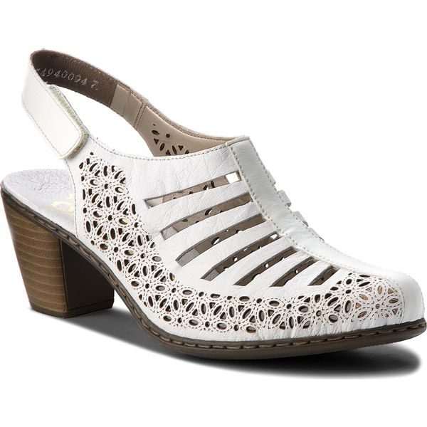 77e9d02d2b39 Sandały RIEKER - 40959-80 Weiss - Białe sandały marki Rieker