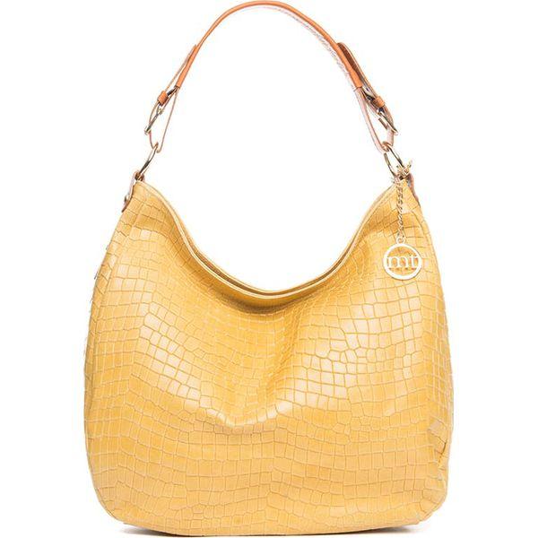 c784c0ce954ac Skórzana torebka w kolorze żółtym - 37 x 32 x 12 cm - Żółte torebki ...