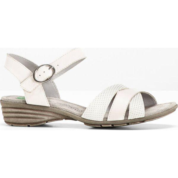 104e5cc6ed32ed Wygodne sandały skórzane bonprix biały - Sandały bonprix. Za 149.99 ...