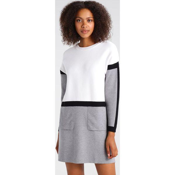 1c9bb2369b Morgan Sukienka dzianinowa ecru gris - Białe sukienki marki Morgan ...