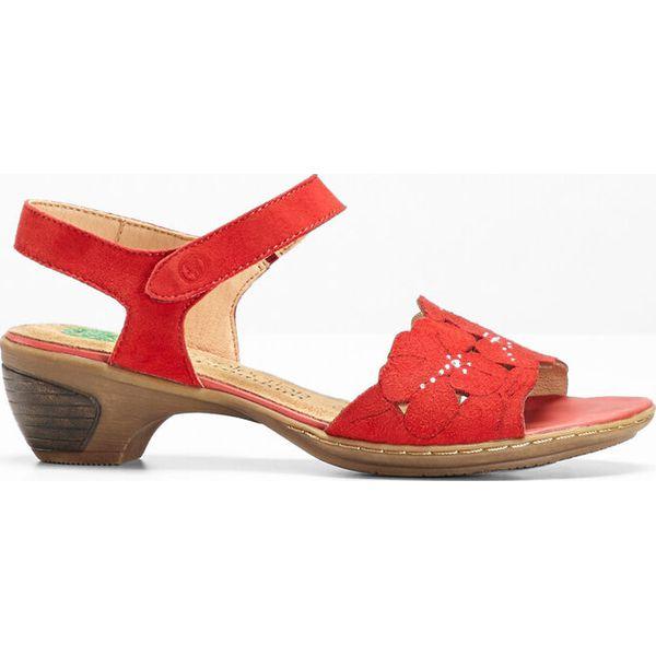 eee2f3bc Wygodne sandały skórzane bonprix czerwony - Sandały bonprix. Za ...