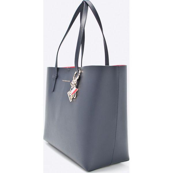 413cc7f91c6c2 Tommy Hilfiger - Torebka skórzana - Szare torebki klasyczne marki ...