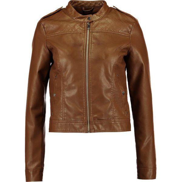 54384d20f2d48 Vero Moda VMALICE Kurtka ze skóry ekologicznej cognac - Moda w ...