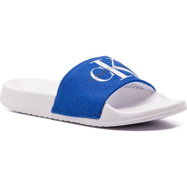 Calvin Klein – Chantal – Białe płócienne klapki