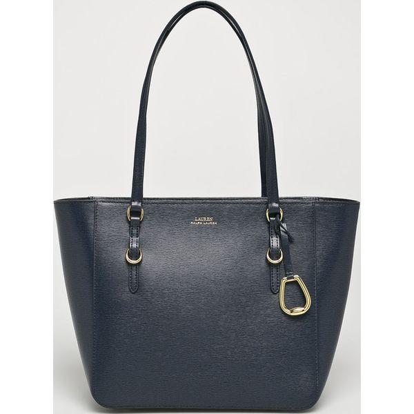 ad48ed95d9d2d Lauren Ralph Lauren - Torebka skórzana - Brązowe torebki klasyczne ...
