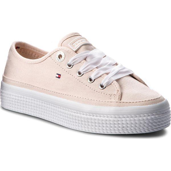 237a6b41d2eb7 Tenisówki TOMMY HILFIGER - Pastel Flatform Sneaker FW0FW02994 Silver ...