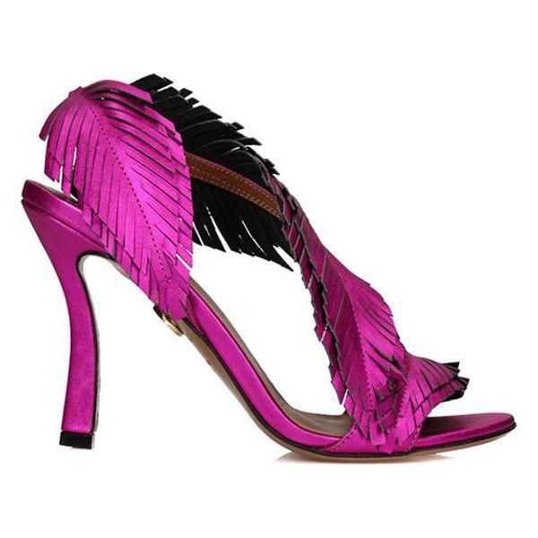 13ce1adc33ca4 Skórzane sandały w kolorze fuksji - Czerwone sandały marki Baldowski ...