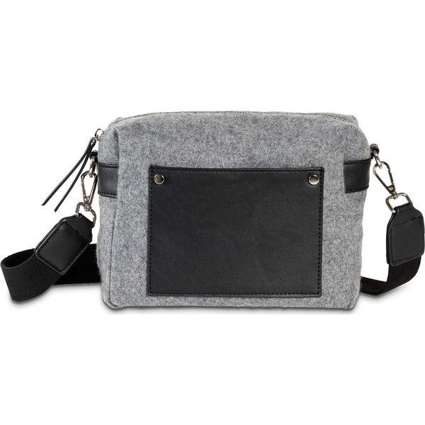 2d0af3373a5c96 Torebka z filcu bonprix czarno-szary - Czarne torebki klasyczne ...