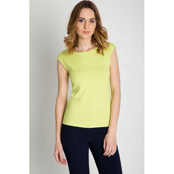 026e81813f Pistacjowa bluzka z krótkim rękawem BIALCON - Zielone bluzki BIALCON ...