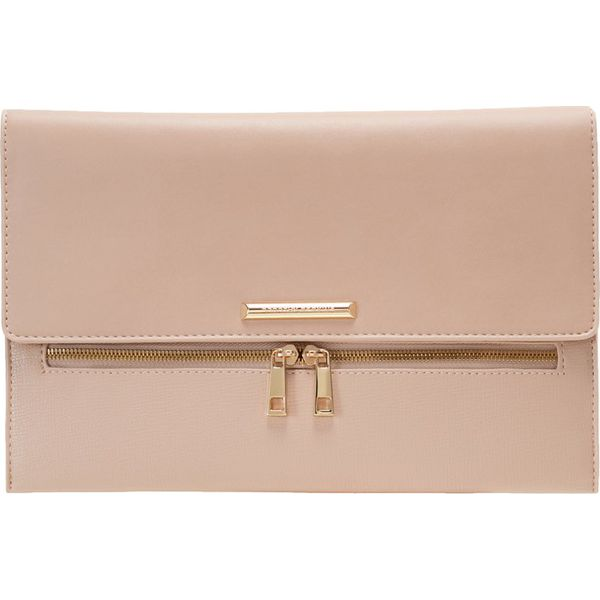 727cee0eab0e2 Dorothy Perkins DOUBLE ZIP Kopertówka nude - Różowe kopertówki marki ...