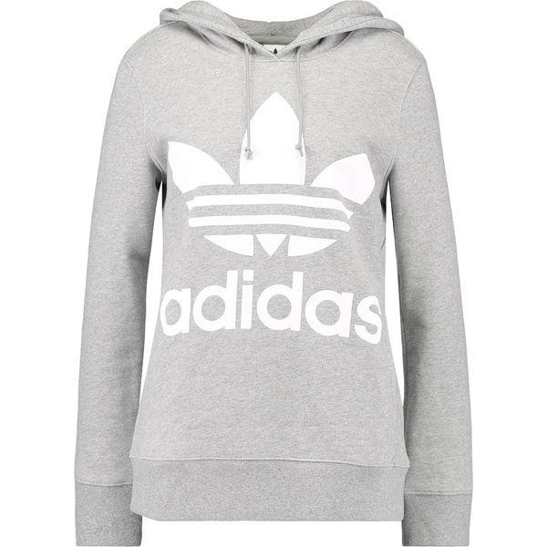 adidas Originals ADICOLOR TREFOIL HOODIE Bluza z kapturem grey