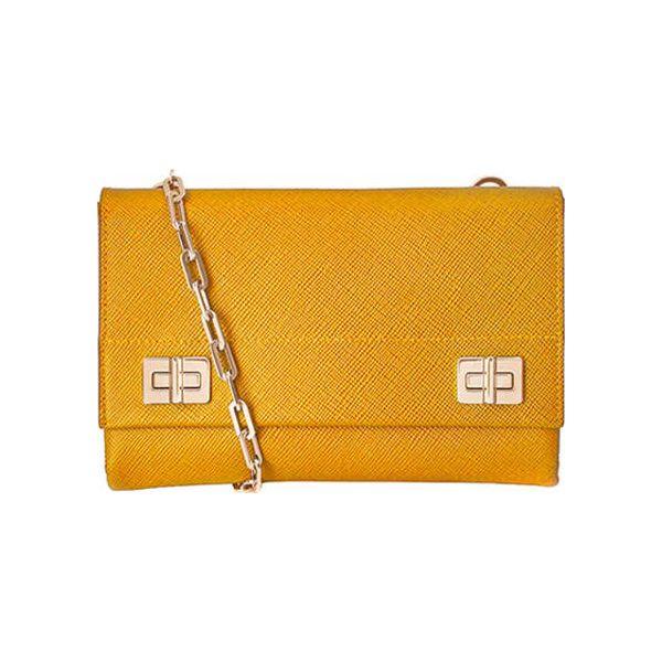 7b8d0c2ac361e Skórzana torebka w kolorze żółtym - (S)22 x (W)15 x (G)5 cm - Żółte ...