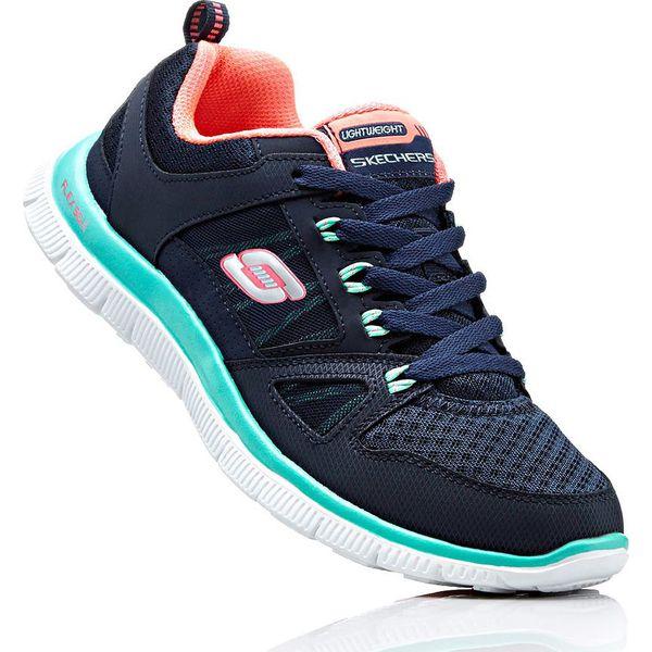Sneakersy Skechers z pianką Memory bonprix ciemnoniebiesko miętowy