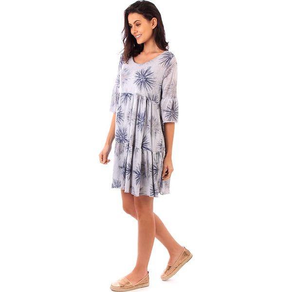 478018abf119d9 Sukienka w kolorze szarym - Szare sukienki marki Fille de Coton ...