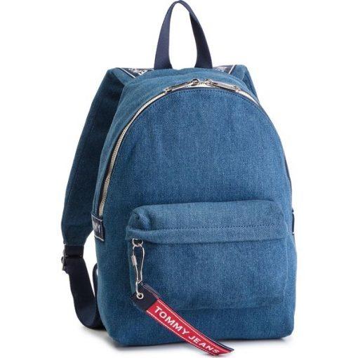 464799646059e Plecak TOMMY JEANS - Tju Logo Tape Mini Backpack Denim AU0AU00673 ...