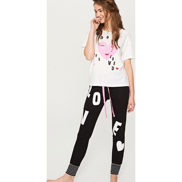 902074ae07d6f9 Piżama z nadrukiem - Biały - Białe piżamy marki Reserved, l, z ...