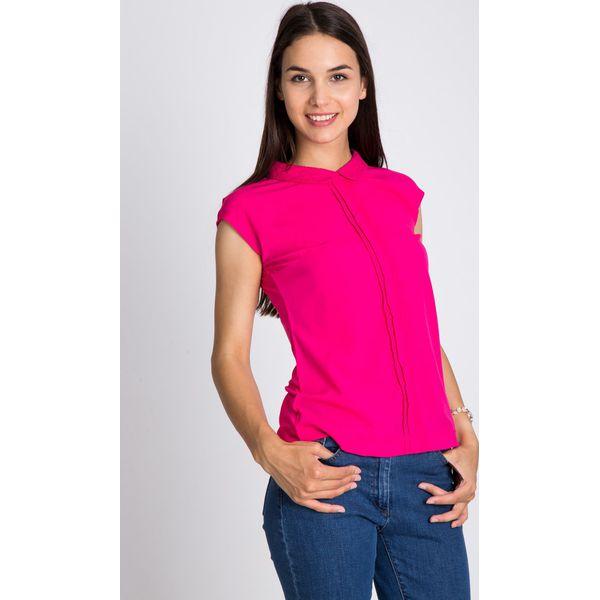 8377e365 Różowa bluzka z haftowanym kołnierzykiem QUIOSQUE