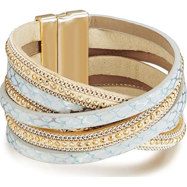 a639fc01b6009f Bransoletka w kolorze beżowo-złotym - Brązowe bransoletki marki ...