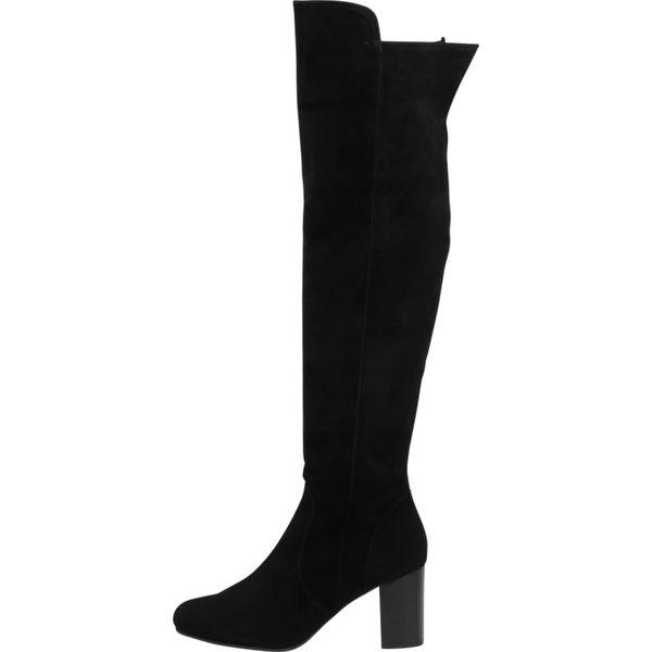 3e1a7c3722a4c Zign Kozaki black - Czarne kozaki marki Zign, z materiału, klasyczne ...