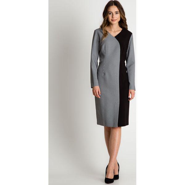 80f4afdae3 Asymetryczna sukienka z długim rękawem BIALCON - Sukienki marki ...