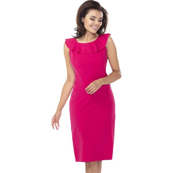 25070da7a8 Sukienka w kolorze fuksji - Czerwone sukienki marki Ryłko by Agnes ...
