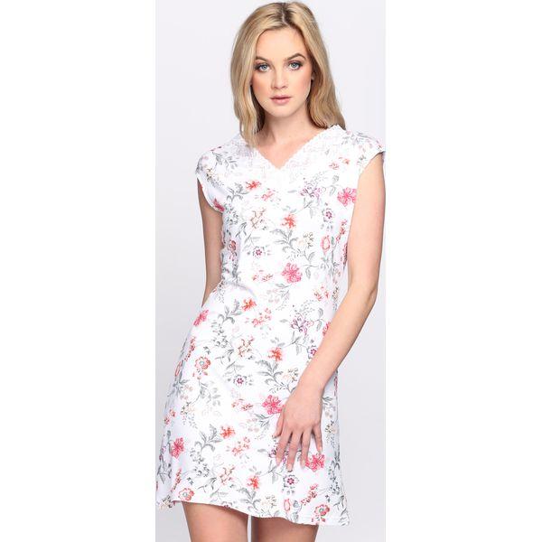 8a34269f49 Biało-Różowa Sukienka Admiration - Białe sukienki marki Born2be