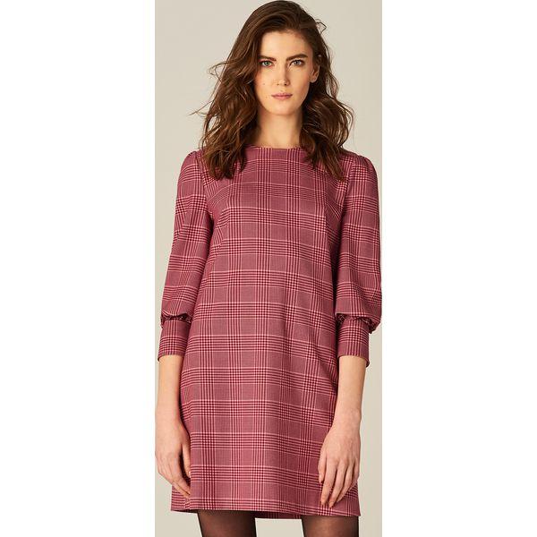 0f19889b14 Zmysłowa sukienka w kratkę - Wielobarwn - Różowe kombinezony marki ...