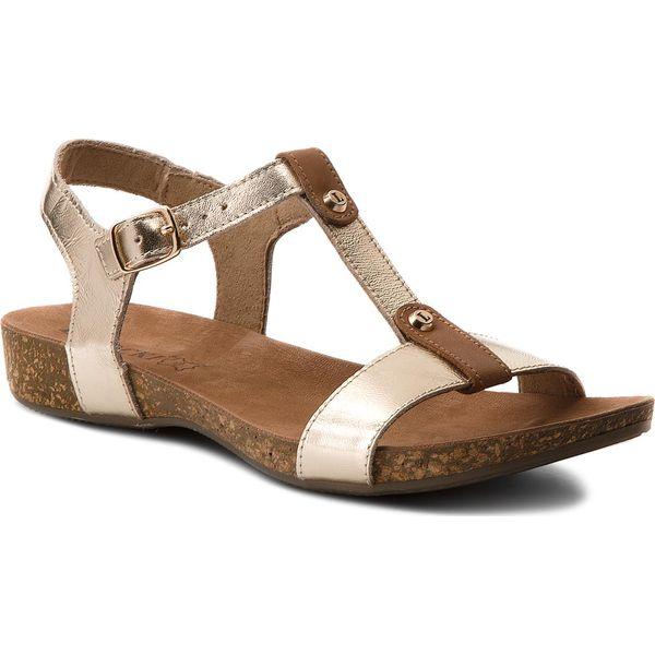 3a55b13c831b9 Sandały LASOCKI - 1883-01 Złoty 1 - Żółte sandały marki Lasocki, ze ...