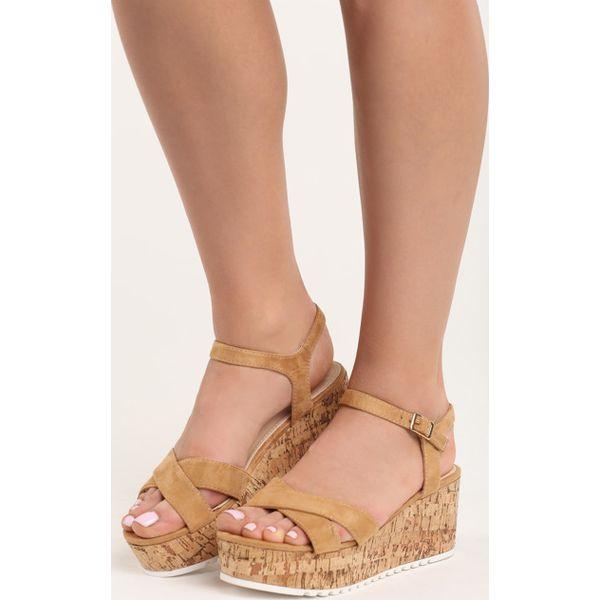 219af506 Camelowe Sandały The Cure - Brązowe sandały marki Born2be, z ...